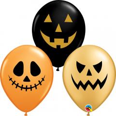 """11"""" Jack Faces Printed Latex Balloons, Qualatex 97356"""