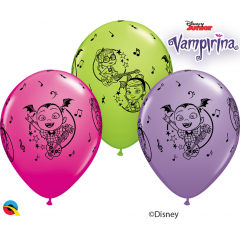 "Baloane latex 11""/28 cm Vampirina, Qualatex 89516, set 25 buc"