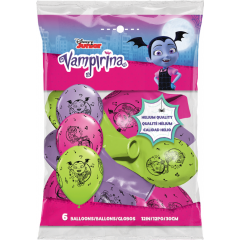 "Baloane latex 12"" inscriptionate Vampirina, Qualatex 90151, Set 6 buc"