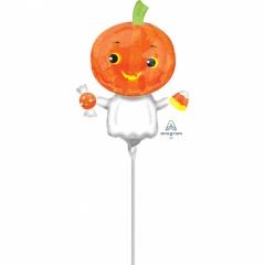 Balon Mini Figurina Pumpkin Ghost, Amscan, A38149