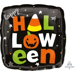 Balon folie inscriptionat Happy Happy Halloween - 45 cm, A39991