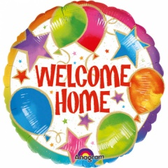 """18"""" Round Foil Welcome Home Pennants, Qualatex 45245"""