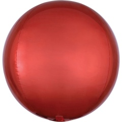 Ombre Orbz Red & Orange Foil Balloon, 38 x 40 cm, 39847