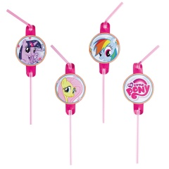 My Little Pony Drinking Straws Party,  Amscan 996368, Pack of 8 pieces