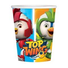 Pahare carton Top Wing pentru petrecere copii - 250 ml, Amscan 9904873, Set 8 buc