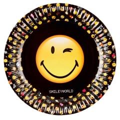 Farfurii carton Smiley Emoticons pentru petrecere copii - 23 cm, 9901287, Set 8 buc