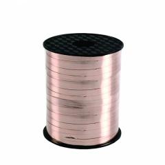 Rafie metalizata rose gold pentru legat baloane latex sau folie - 100 m, Amscan CR1100, 1 rola