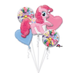 """Bouquet """"Love - Always and Forever """" Foil Balloons, Amscan 34456, set of 5 pieces"""