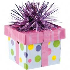 Greutate pentru baloane forma cadou - multicolor, Amscan 114533