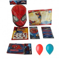 Pachet party Spiderman, Radar PS.SPIDER, set 7 bucati