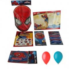 Pachet party Spiderman, Radar PS.SPIDER, set 7 bucati
