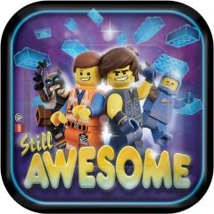 Farfurii carton Lego Movie 2 pentru petrecere - 18 cm, Amscan 541711, set 8 buc