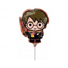 Balon Mini Figurina Harry Potter - 36 cm, umflat + bat si rozeta, Amscan 40420
