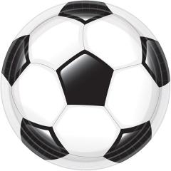 Farfurii carton minge fotbal pentru petrecere copii - 23 cm, Amscan 9905959, set 8 buc