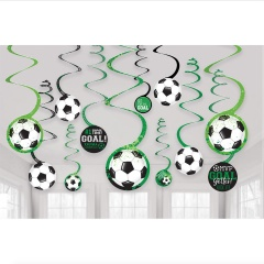 Serpentine decorative cu minge fotbal - Radar 672902, set 12 bu