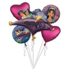 Buchet Baloane Aladdin, Amscan 39154, set 5 buc