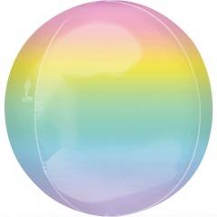 Orbz Ombré Pastel Foil Balloon, Amscan 40554
