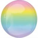 Balon folie Orbz Ombre Pastel- 38 x 40 cm, Amscan 40554