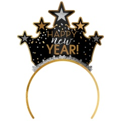 Tiara Happy New Year Black Silver Gold, Amscan 250864