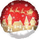 "Standard ""Satin Santa Village"" Foil Balloon, Amscan 38311"