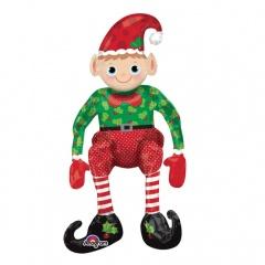 Balon Folie Figurina Sitting Elf - 75 cm, Amscan 27854