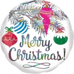Balon Folie Iridiscent Merry Christmas - 45 cm, Amscan 40096