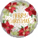 Balon Folie 45 cm Satin - Merry Christmas, Amscan 40097