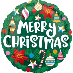 Balon Folie 45 cm Craciun- Merry Christmas, Amscan 40104