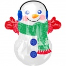 Junior Shape Adorable Snowman Foil Balloon, Amscan 40107