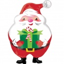Junior Shape Jovial Santa Foil Balloon, Amscan 40108