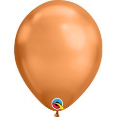 "Baloane latex 11""/28cm Copper- Chrome, Qualatex 12977"