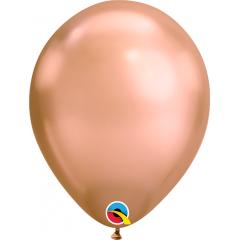 Balloon Chrome Rose Gold - 11''/28 cm, Qualatex 12966