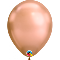 "Baloane latex 11""/28cm Rose Gold- Chrome, Qualatex 12966"