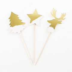 Scobitori decorative pentru Craciun - 10 cm, Radar 45585, set 8 bucati