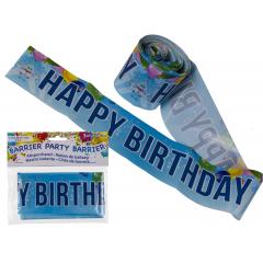 Banner decorativ pentru petrecere - 10 m, Happy Birthday, Radar 62/0818