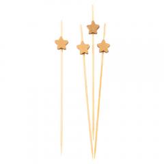 Scobitori decorative cu Stelute Aurii, Radar 50292, Set 25 buc