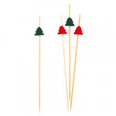 Scobitori decorative cu Reni rosu/verde, Radar 50293, Set 25 buc