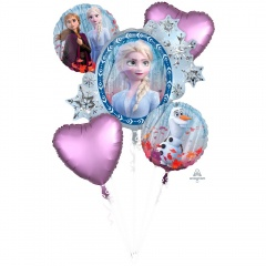 Disney Frozen Birthday Bouquets Foil Balloons, Amscan 29011, Pack of 5 pieces