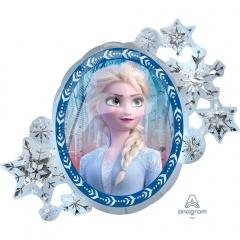 Balon folie figurina Anna si Elsa Frozen 2 - 66x76cm, Amscan 40388
