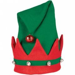 Caciula de Elf cu clopotei - marime universala, Amscan 393509-55, 1 buc