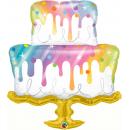 Rainbow Drip Cake - 100 cm, Qualatex 10506, 1 piece