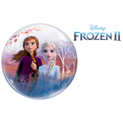Balon Bubble 22''/56 cm - Frozen 2, Qualatex 97502, 1 buc