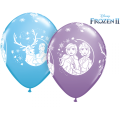 Baloane Latex 11''/28 cm - Frozen 2, Qualatex 98305, set 25 buc