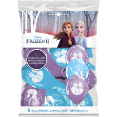 Baloane latex 12'' - Frozen 2, Qualatex 99713, set 6 buc