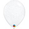 "11"" Printed Latex Balloons, Stars White, Qualatex 39205"