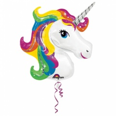 Balon folie figurina Rainbow Unicorn, Amscan 31299
