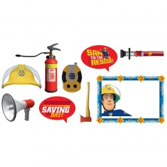 Accesorii foto Pompierul Sam, Amscan 9902191 + rama foto