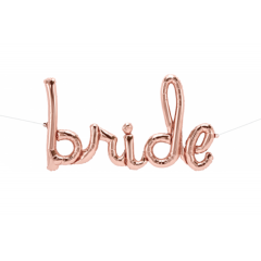Pachet baloane folie script - Bride, 33''/84 cm, Qualatex Q59792