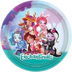 Farfurii carton Enchantimals pentru petrecere copii - 23 cm, Amscan 9904850, Set 8 buc
