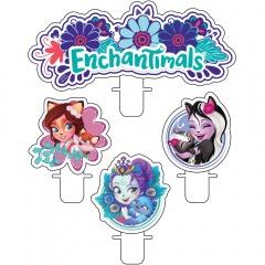 Lumanari pentru tort figurine Enchantimals, Amscan 9904858, Set 4 buc